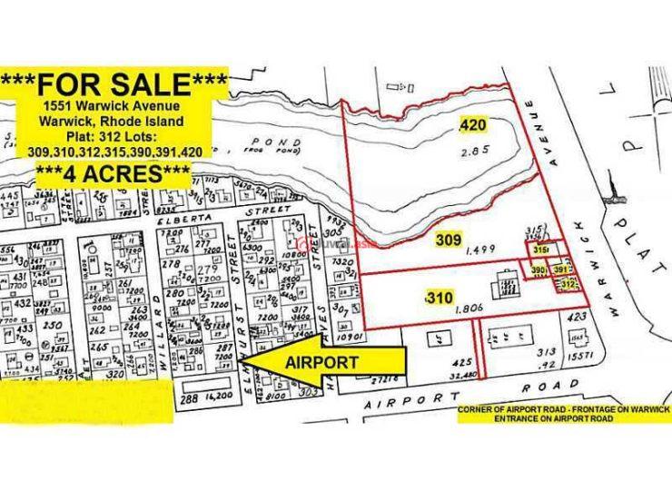 美国罗德岛沃里克总占地16187平方米的商业地产